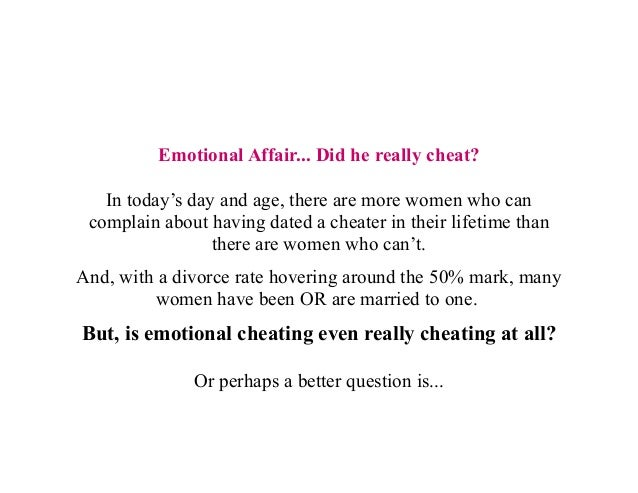 Is an emotional affair cheating