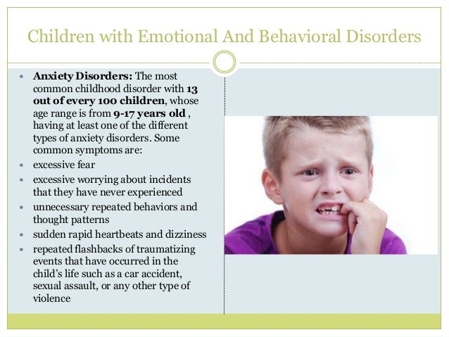 disorders in children For more information on the sources used for prevalence data, download the complete children's vision and eye health report vision loss nearly 3 percent of.