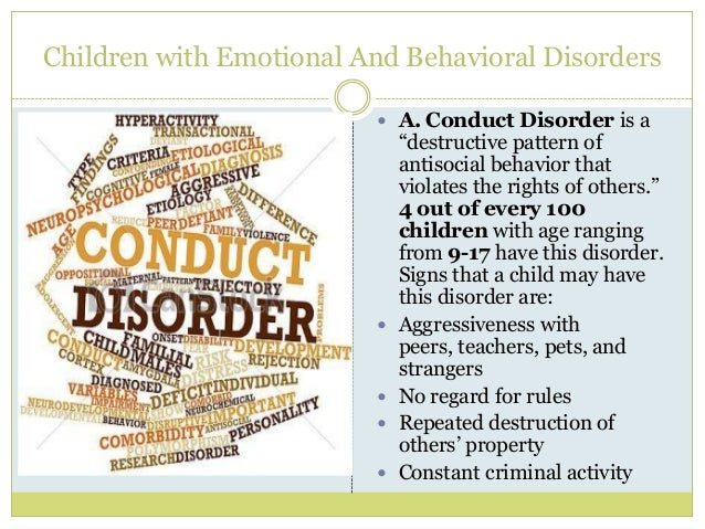 Chapter 7: Students with Emotional and Behavior Disorders