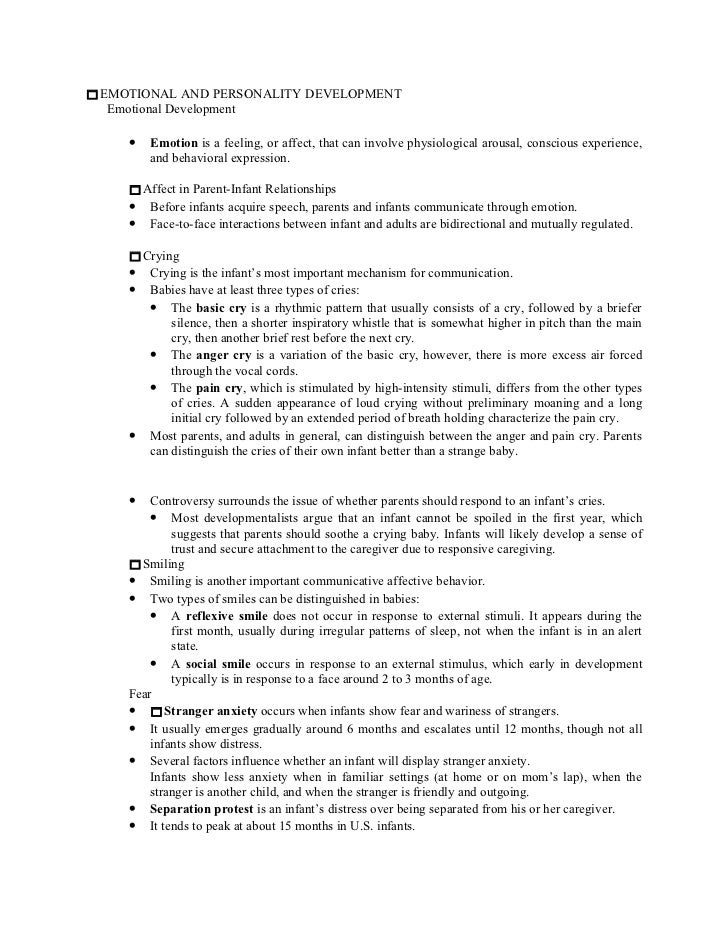 personality emotional development essay Free coursework on traits approach to personality development from essayukcom, the uk essays company for essay, dissertation and coursework writing  temperament traits relate to the emotional life of the person, the stylistic quality of behavior, the behavior of a person that vary from individual to individual  for example, dna may.