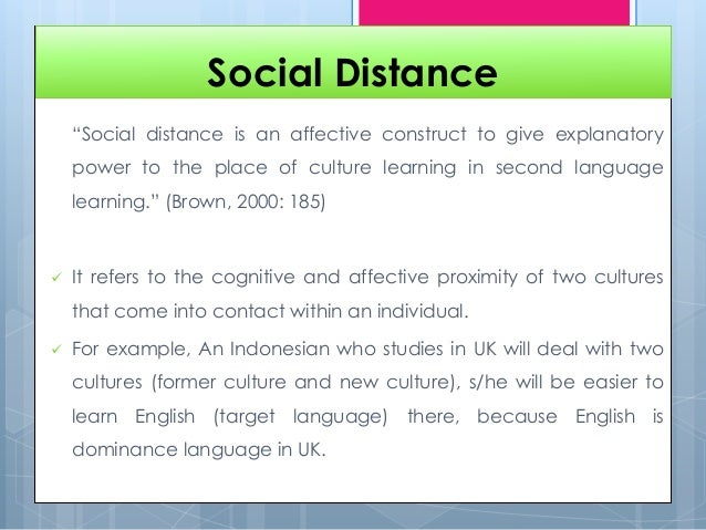 social distance This programme is an advanced professional development programme involving some or all of the following: distance learning study workshops autism studies can be completed mainly by distance learning the tizard centre is part of the school of social policy, sociology and social research (sspssr.