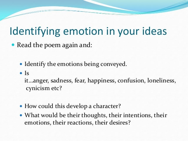 Confusion and instable emotions in poetry essay