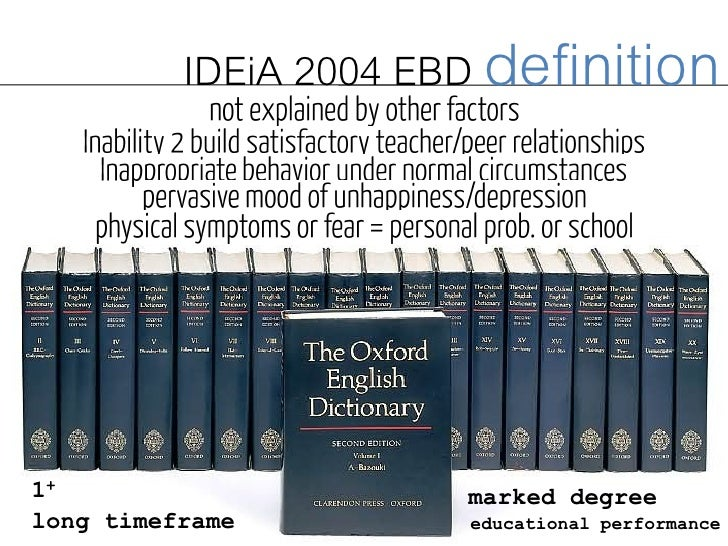 emotional and behavioral disorders How many characteristics in the idea definition of emotional disturbance must be present for a student to receive special education services.