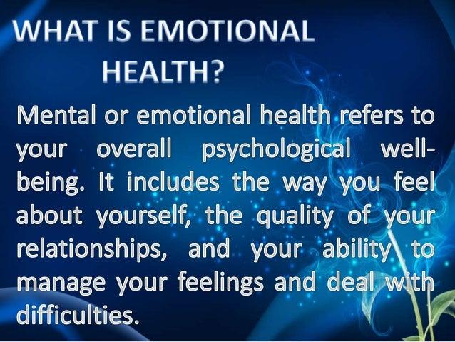 Emotional health Slide 2