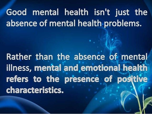 Emotional health Slide 3