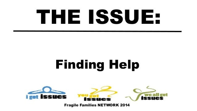 Finding Help THE ISSUE: Fragile Families NETWORK 2014