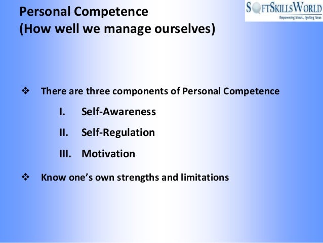 a personal assessment of strengths and competencies It involves rating established goals, competencies, and overall  enables you to  honestly assess your strengths and also areas you need to.