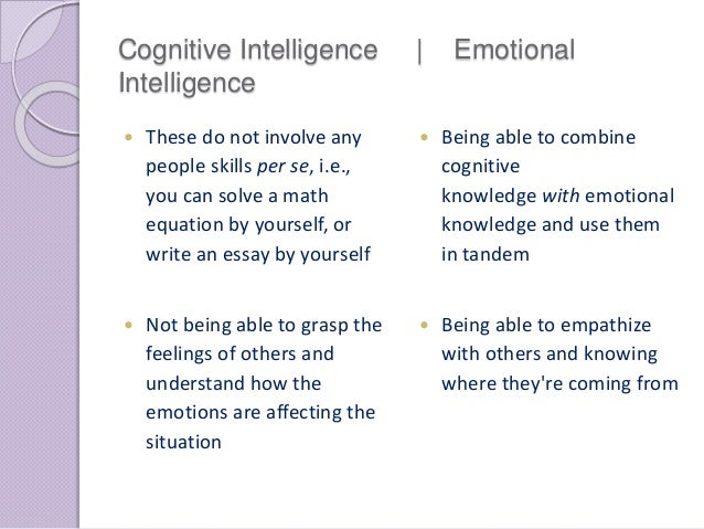 get smart iq and emotional intelligence essay Just as iq is a way of being academically smart, emotional intelligence (eq) is a way of being people-smart but unlike iq, we can work on.