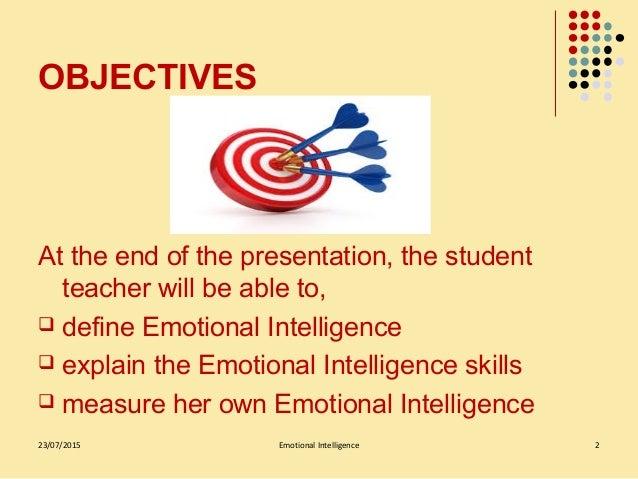 Emotional intelligence Slide 2