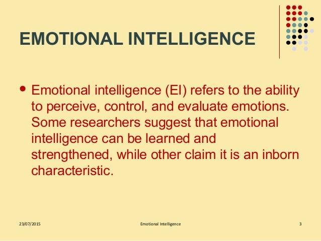 Emotional intelligence Slide 3