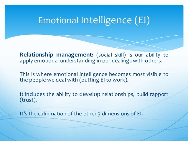 emotional intelligence and dating The singles ministry of the dfw church hosts a singles' devotional the 2nd friday of every monthguest speakers pierre and shara saget will be speaking on emotional intelligence in relationships730pm.