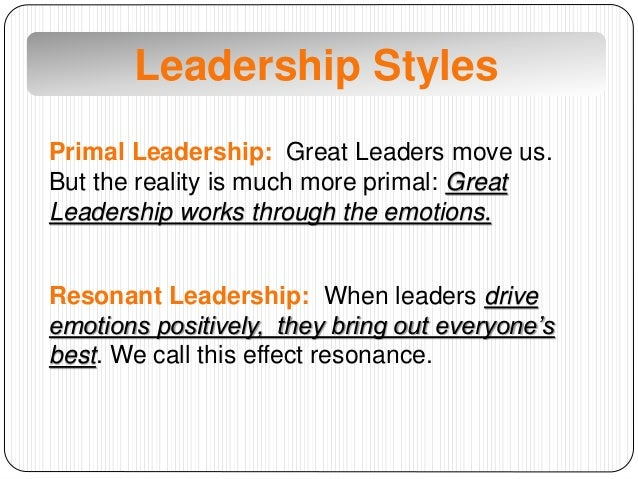 primal leadership case Case studies case studies self she has heard about leadchange's equine-facilitated learning (from 'primal leadership.