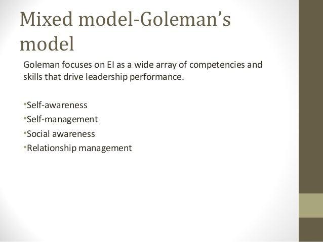 Emotional intelligence Models