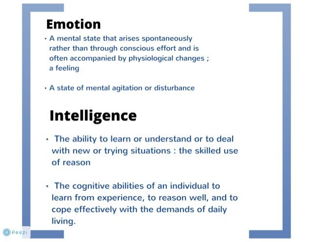 review of emotional intelligence