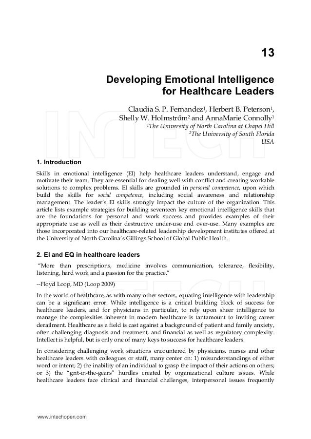 Emotional intelligence and patient-centred care