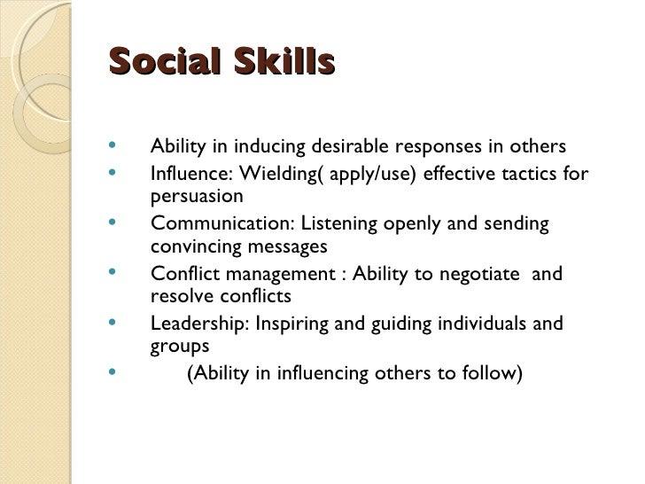 emotional intelligence social skills pdf