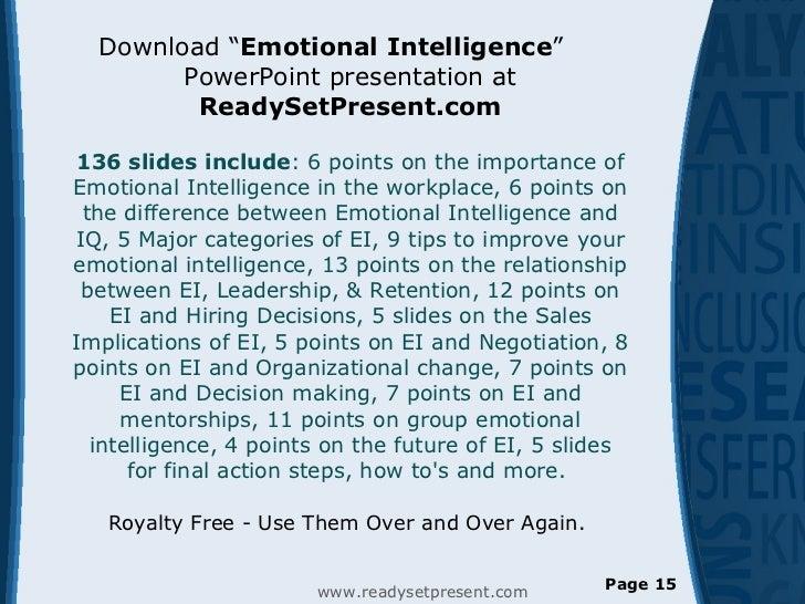 Role of emotional intelligence