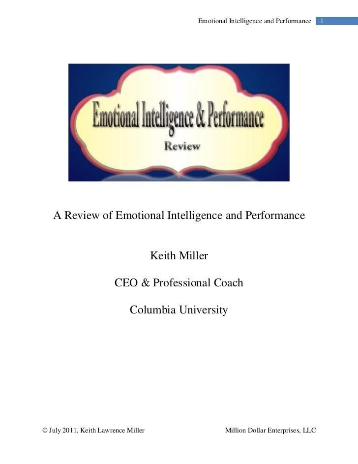 relationship marketing emotional intelligence and performance