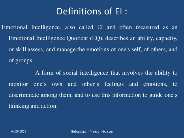 the differences between intelligence quotient and emotional intelligence quotient Our emotional quotient (eq) product looks at a person's emotional intelligence, which is the ability to sense, understand and effectively apply the power and acumen of emotions to facilitate higher levels of collaboration and productivity.