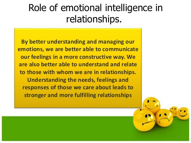 emotional intelligence and dating Emotional intelligence, mental and emotional illness later in adulthood, these conflicts can lead to the development of a desensitized emotion intelligence, which can have an extremely damaging impact upon physical and mental health, as well as upon important interpersonal relationships.