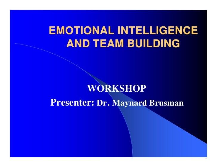 emotional intelligence  u0026 team building