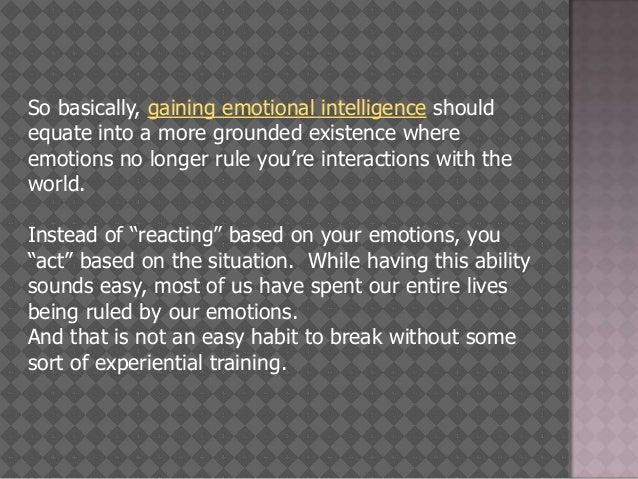 how to train emotional intelligence