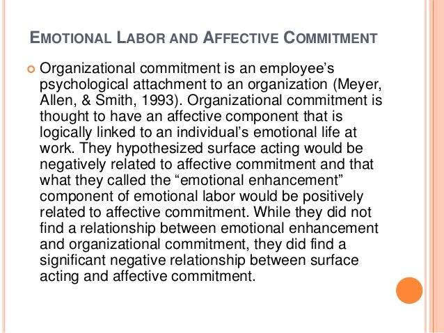 emotional labour and negative job outcomes Influence of emotional labour and emotional  contribute to positive outcomes such as ocb and job satisfaction (bagozzi, 2003  negative outcomes such as .