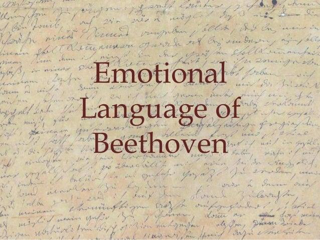 Emotional Language of Beethoven