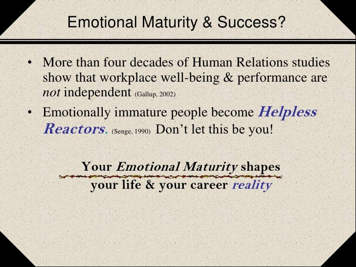 Define emotionally mature