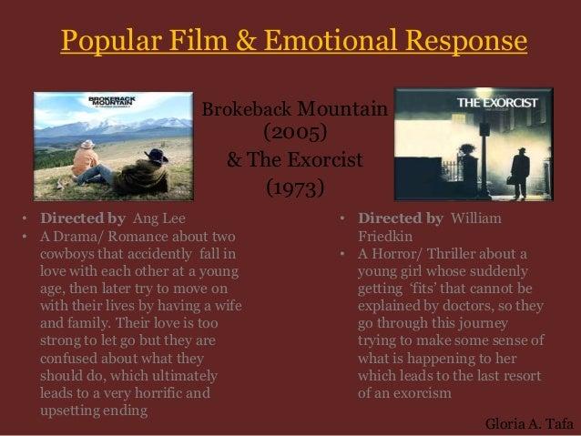 Popular Film & Emotional Response                            Brokeback Mountain                                   (2005)  ...