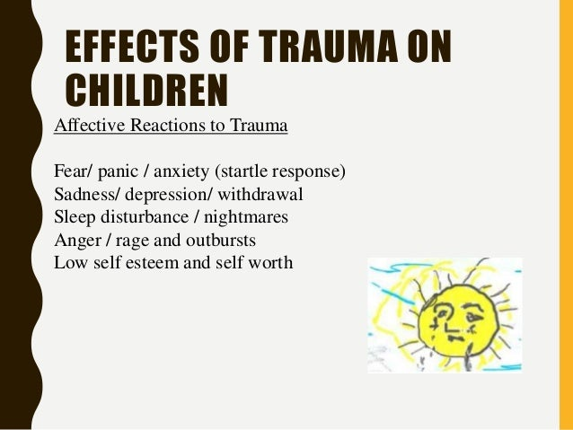 the effects of trauma and mental The aftermath of that trauma could be seen in their brain scans, whether or not the young adults had developed diagnosable disorders regardless of their mental health status, formerly maltreated youth showed reductions in volume of about 6% on average in two parts of the hippocampus, and 4% reductions in regions called the.