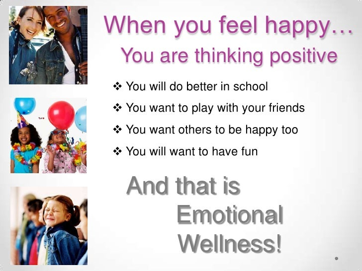 emotional wellness Emotional wellness means paying attention to self-care, relaxation, and stress reduction the following are key points to achieving emotional wellness.