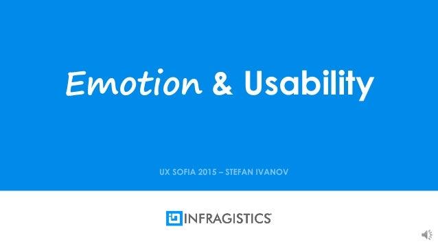 1 Emotion & Usability