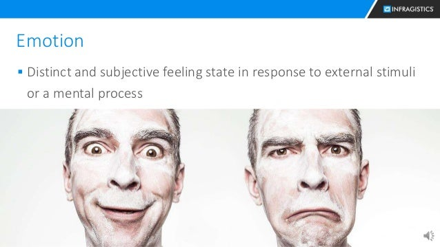14 Emotion  Distinct and subjective feeling state in response to external stimuli or a mental process