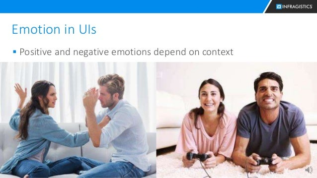 23 Emotion in UIs  Positive and negative emotions depend on context