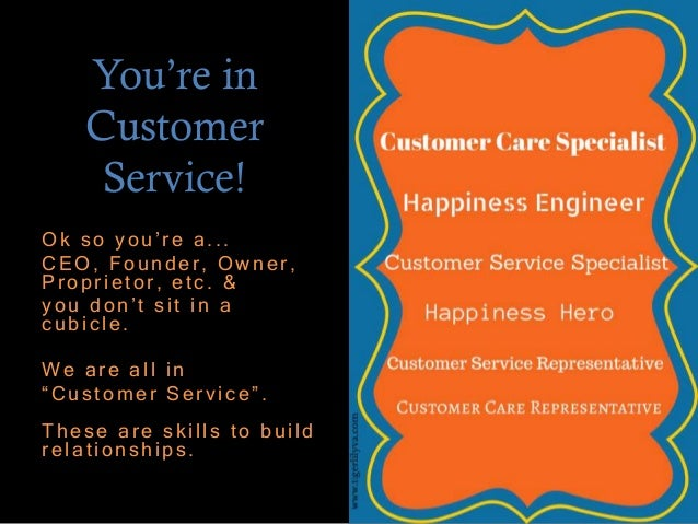How to use your Customer Service skills to improve your business netw…