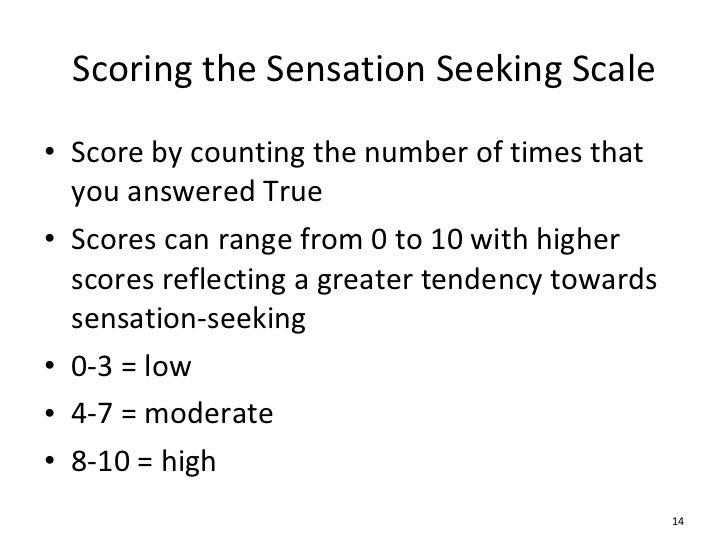 sensation seeking scale scoring manual