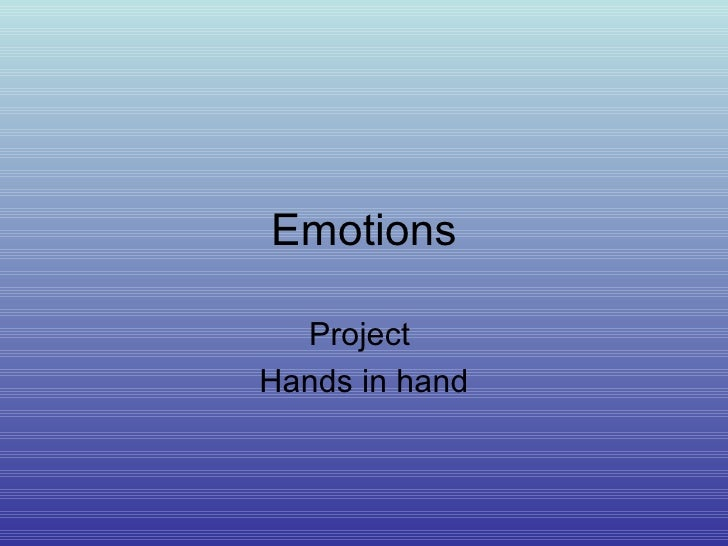 Emotions Project  Hands in hand