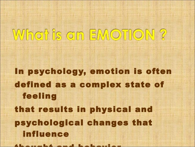 Report about Emotions and how it works Slide 2