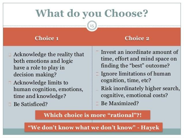 Emotional vs Rational Decision-Making