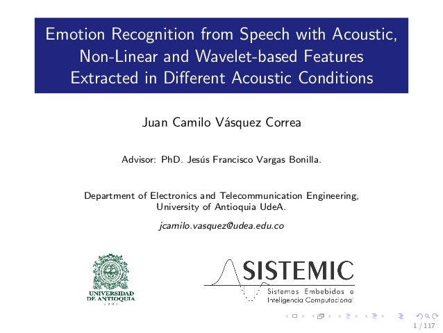 Emotion Recognition from Speech with Acoustic, Non-Linear and Wavelet-based Features Extracted in Different Acoustic Condit...
