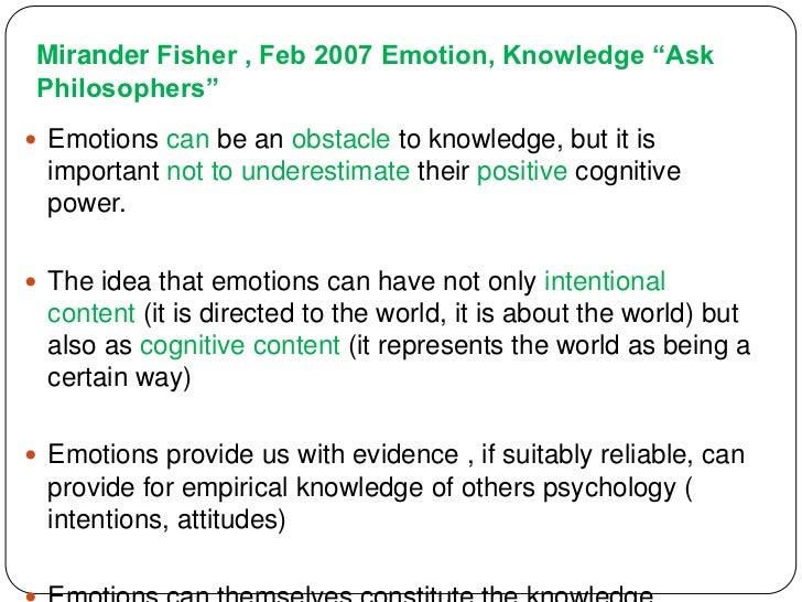 TOK: Emotion & Knowledge
