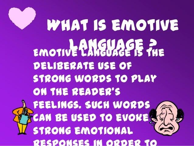 Emotive language-example.