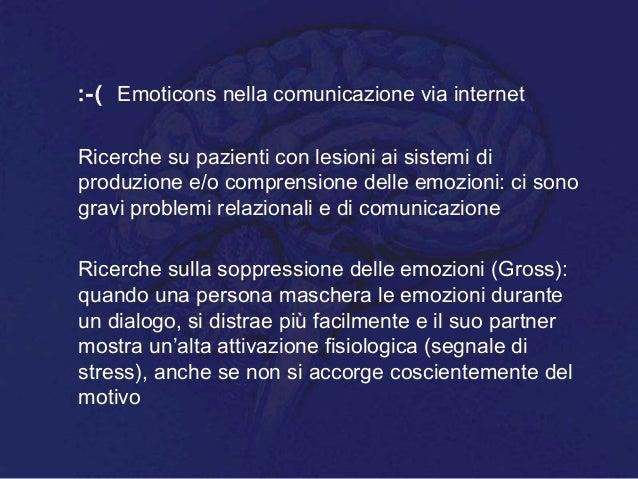 :-( Emoticons nella comunicazione via internet Ricerche su pazienti con lesioni ai sistemi di produzione e/o comprensione ...