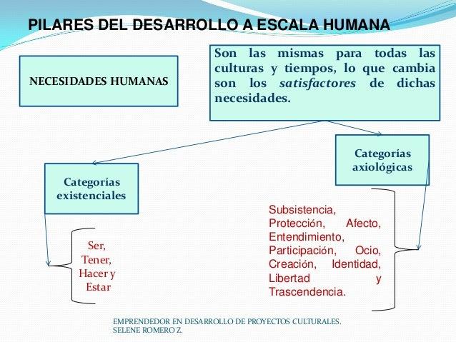 PILARES DEL DESARROLLO A ESCALA HUMANA  NECESIDADES HUMANAS  Son las mismas para todas las culturas y tiempos, lo que camb...