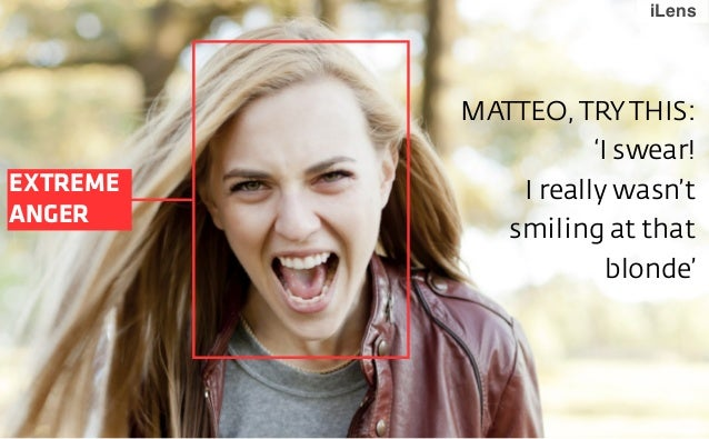 iLens  EXTREME ANGER  MATTEO, TRY THIS: 'I swear! I really wasn't smiling at that blonde'