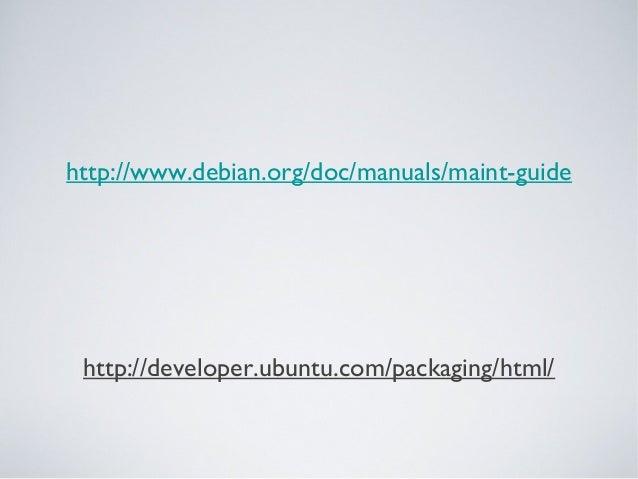Empacotamento e backport de aplicações em debian