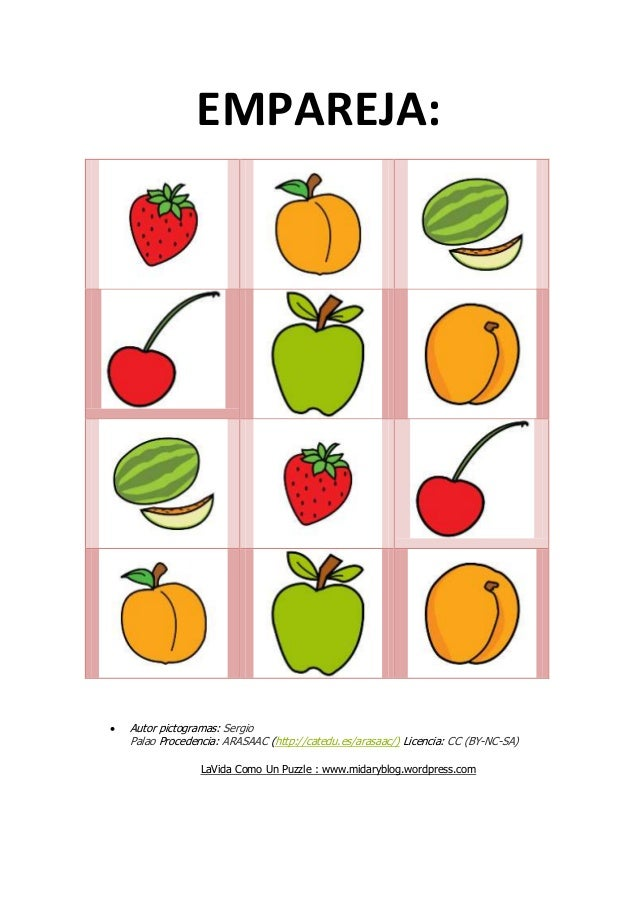 EMPAREJA:  Autor pictogramas: Sergio Palao Procedencia: ARASAAC (http://catedu.es/arasaac/) Licencia: CC (BY-NC-SA) LaVid...