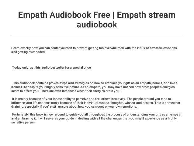 Empath Audiobook Free | Empath stream audiobook
