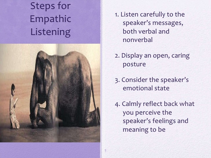 empathic listening Empathetic vs empathic  empathic is usually just a variant of empathetic,  few of us routinely practice empathic listening,.